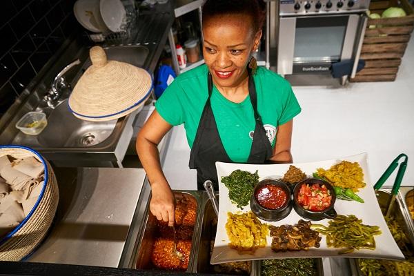 25.10.2019 - London UK. Beza -Ethiopian restaurant, Elephant Park, London. Photo: Professional Images/@ProfImages